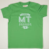 Hand Screen Printed Love Montana Green Kids T-Shirt