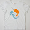 Hand Screen Printed Narwhal in Ocean Kids T-Shirt