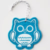 Ornament - Hand Screen Printed Wool Felt Owl Cyan