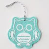 Ornament - Hand Screen Printed Wool Felt Owl Light Blue