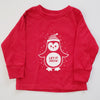Hand Screen Printed Penguin LET IT SNOW Kids LONG SLEEVE T-Shirt