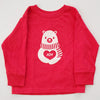 Hand Screen Printed Polar Bear JOY Kids LONG SLEEVE T-Shirt