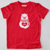 Hand Screen Printed Polar Bear JOY Kids SHORT SLEEVE T-Shirt