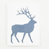 Greeting Card Hand Screen Printed Elk