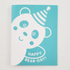 Greeting Card Hand Screen Printed Panda Happy Birthday
