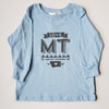 Hand Screen Printed Love Montana Long Sleeve Blue Kids T-Shirts