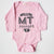Hand Screen Printed Love Montana Long Sleeve Pink Onesie