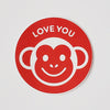 Sticker Love You Monkey