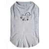 For Dogs - Hand Screen Printed Gray T-Shirt with Squirrel Artwork