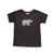 Hand Screen Printed Grizzly Bear with Pattern Dark Gray Heather Kids 18-24 Months T-Shirt