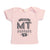 Hand Screen Printed Love Montana Light Pink Baby T-Shirt