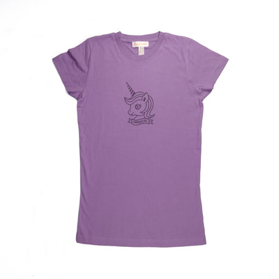 Hand Screen Printed Unicorn Magical Juniors/Womens SLIM FIT T-Shirt