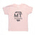 Hand Screen Printed Love Montana Light Pink Kids T-Shirt