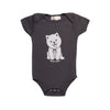 Hand Screen Printed Dog Wuf You Baby Onesie