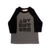 Hand Screen Printed Adventure Kids 3/4 Long Sleeve Baseball T-Shirt