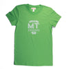 Hand Screen Printed Love Montana Green Womens T-Shirt