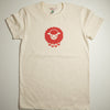 Hand Screen Printed Sheep Cream Womens Organic T-Shirt