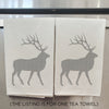 Hand Screen Printed Tea Towel: Elk Graphic
