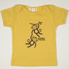 Hand Screen Printed Monkeys Double the Fun Mustard Kids 18-24 Months Organic T-Shirt
