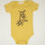 Hand Screen Printed Monkeys Double the Fun Mustard Baby Organic Onesie