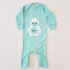 Hand Screen Printed Chill Yeti Baby Rib Long Sleeve Coverall