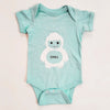 Hand Screen Printed Chill Yeti Baby Onesie