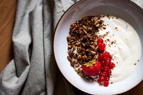 Granola and yogurt bowl