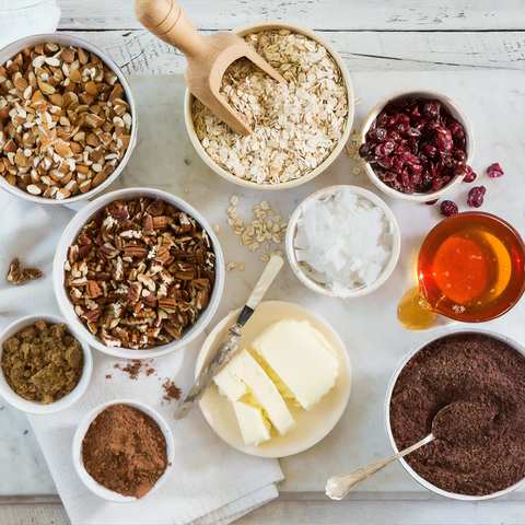 Ingredients for a dairy-free dessert
