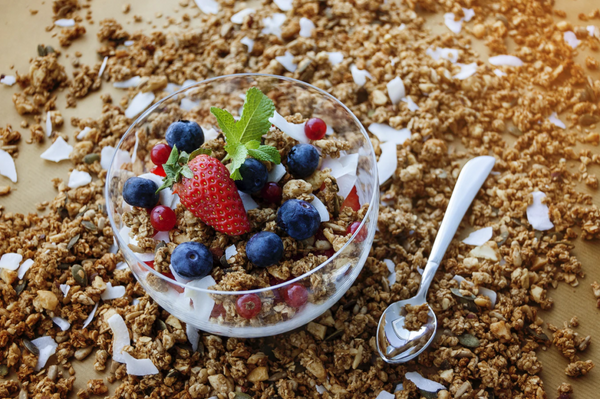 granola nutrition and health benefits in  a bowl for breakfast
