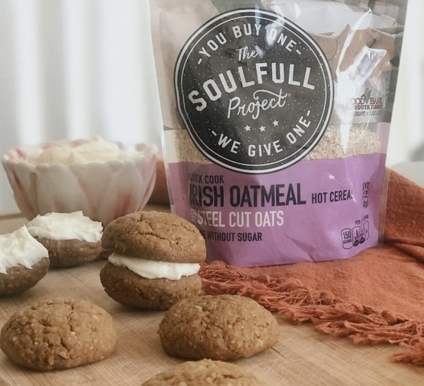 Vegan Gingerbread Oatmeal Cream Pie Cookies