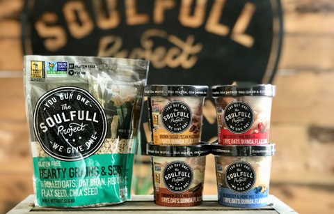 Healthy snacks for adults are made with The Soulfull Project Grains