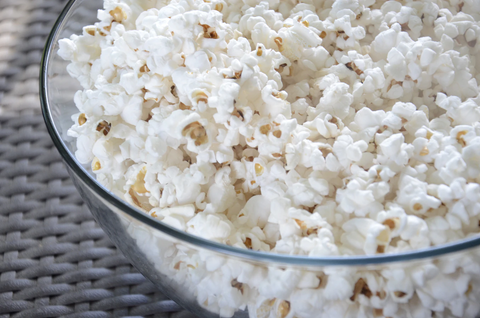 A bowl of popcorn as part of healthy snacks for adults