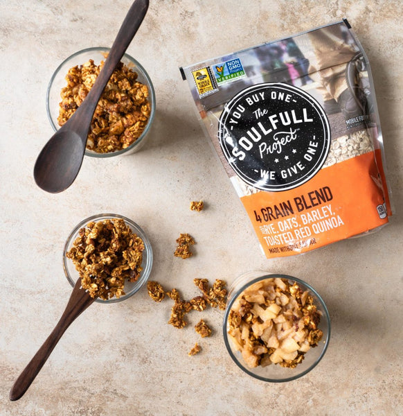 high-fiber breakfast with 4 grain blend from The Soulfull Project