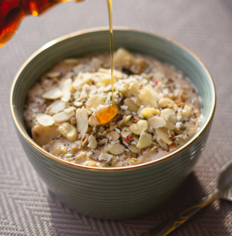 Oatmeal with maple syrup