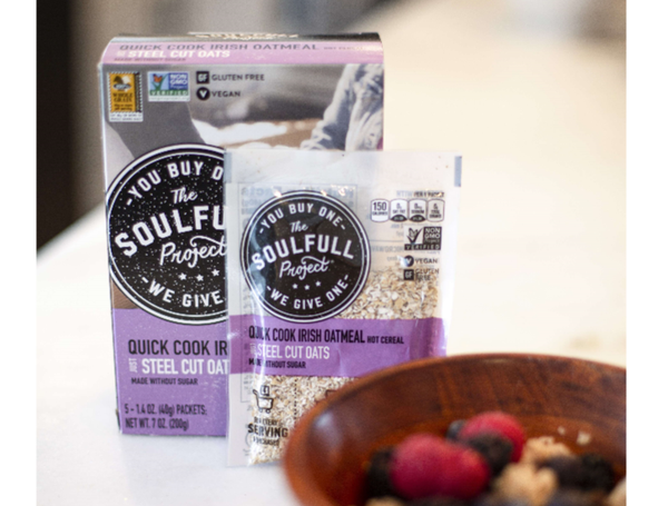 """The Soulfull Project answering your question """"Is granola gluten-free?"""" with easy to find GF label on packaging"""