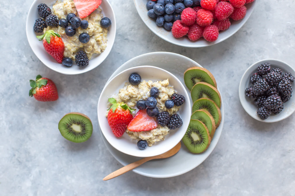 bowl of fruit and oatmeal