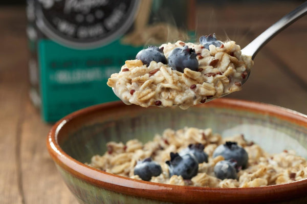 hot cereal with blueberries packed all the beneficial oatmeal nutrition