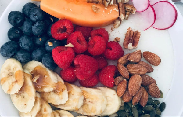 fruits and nut plate