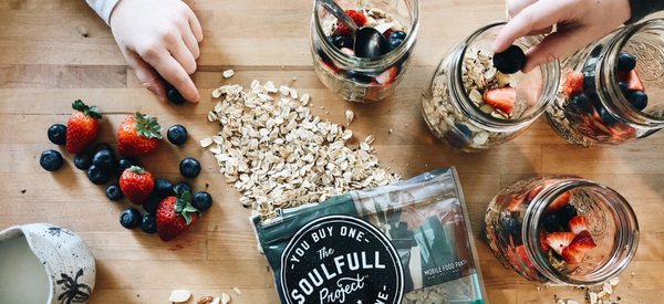 people using The Soulfull Project oats to make overnight oats for office snacks