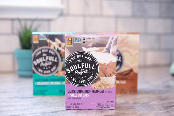 The Soulfull Project boxes of Steel Cut Oats