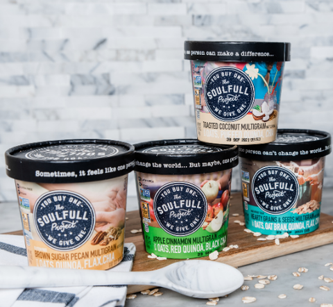 The Soulfull Project oatmeal packages