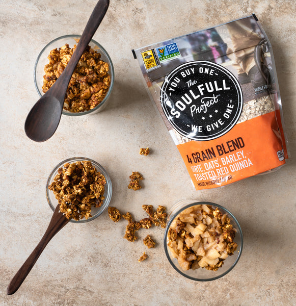 Package of The SoulFull Project 4 grain blend oatmeal