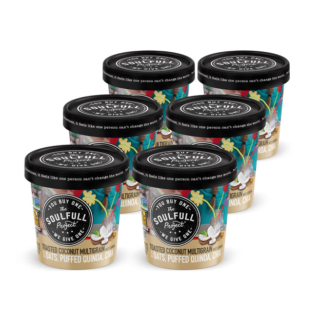 Toasted Coconut Multigrain Oatmeal Cup Case 1
