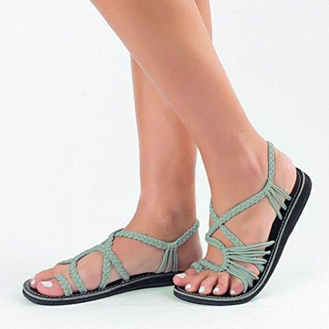 Summer Handmade Bandage Beach Flat Sandals