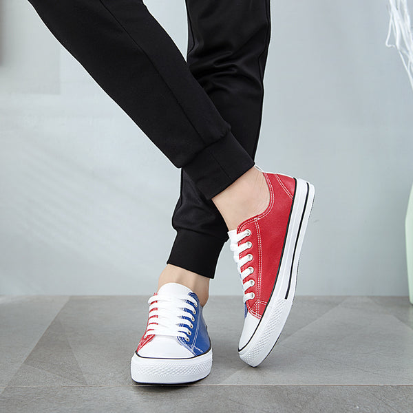 Fashion Mixed Color Casual Canvas Flats