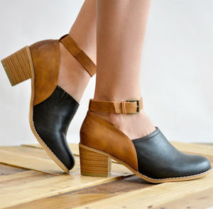 Adjustable Buckle Casual Ankle Strap Clogs Boots