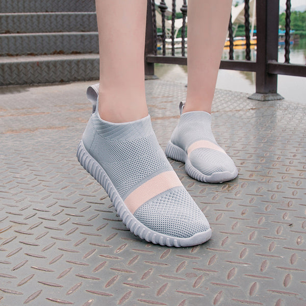 Women Casual Breathable  Slip On Mesh Running Shoes
