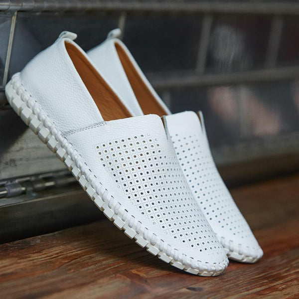 Fashion Handmade Leather Mens Slip On Loafers