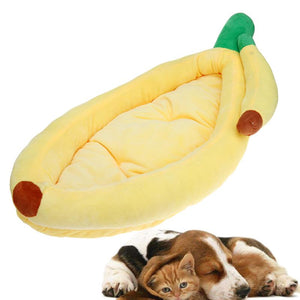 Winter Warm Dog Bed Removable Banana Shape Pet Sleeping Mat Puppy Dog Cat