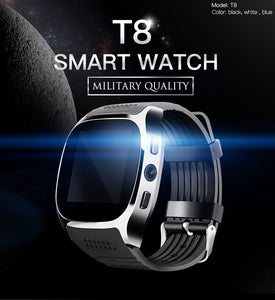 T8 Bluetooth Smart Watch With Camera Supportint SIM TF Card
